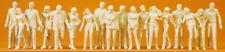 Preiser 65601 Pedestrians (Pk18) (Unpainted) O Gauge