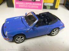 1/43 Schabak Porsche 911 Carrera 2 Cabrio blau 1110