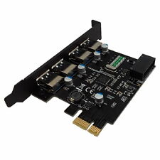 4 Ports USB 3.0 5Gbps HUB adaptateur d'extension PCI-E Express Card NEC Chipset