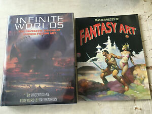 Science Fiction and Fantasy Art Book Infinite Worlds Lot Frazetta Freas Boris