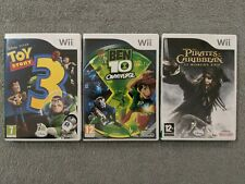 Nintendo Wii (3) Game Lot (PAL Region Code): Toy Story 3, Ben 10, Pirates, more