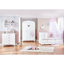 Mitwachsendes Babyzimmer Little Princess mit Kleiderschrank, Kommode & Babybett