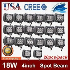 20X 4INCH 18W CREE LED WORK LIGHT BAR SPOT OFFROAD 4WD SUV Truck LAMP 12V24V HOT