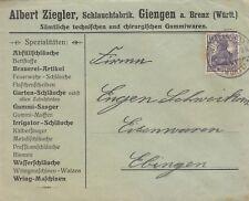 GIENGEN, Briefumschlag 1925, Albert Ziegler Schlauch-Fabrik