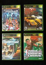 Xbox game lot Pure Pinball Sega GT2002/Jetset Need For Speed 2 NBA Inside Drive