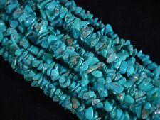 Gemstone Chips Blue Turquoise 80cm Strand Semi Precious Jewellery FREE POSTAGE