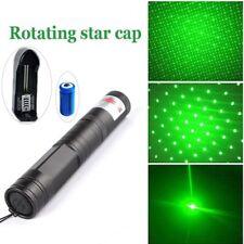 200Miles 532nm Green Laser Pointer Pen Visible Beam Lazer+16340 Battery+Star Cap