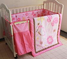 Baby Bedding Crib Cot Quilt Sheet Set 9cs Quilt Bumpers Sheet Dust Ruffle