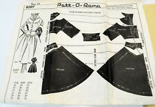 "Vintage 1950's Pat-O-Rama Pattern 8397 Dress Full Skirt Bust 32"" Unprinted Uncut"