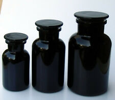 Violettglas Miron Set Apothekerflaschen 250, 500,1000ml