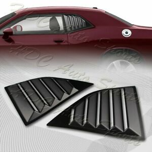 For 2008-2019 Dodge Challenger ABS Black Side Window Louvers Scoop Cover Vent