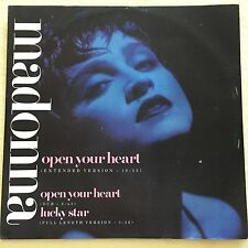 "MADONNA - Open Your Heart - REMIX 1986 12"" vinyl UK new condition original"