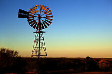 PRINT POSTER  outback landscape windmill  photo Australia Fits A0 Glass  Frame