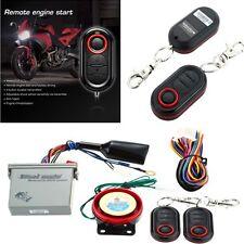 Motorcycle Antitheft Alarm Security System Remote Control Engine Start Universal