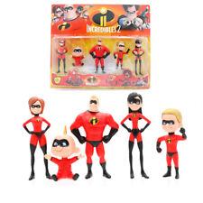 The Incredibles 2 Action Figure Model Set 5pcs Kids Toys 6-10cm PVC Super Family