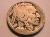 1915-S Buffalo Nickel AG/G Clear Date Original Grey Indian Head 5 Cent USA Coin