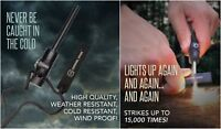 Survival Fire Starter with Compass and Whistle Camping Magnesium Survival Spark