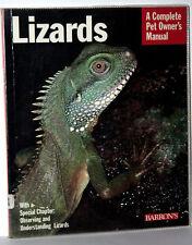 LIZARDS Complete Pet Owner's Manual IGUANA MANUALE USATO IN INGLESE KJ1 56331