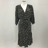 GERARD DAREL Paris Black White Ditsy Floral Tea Dress Womens Size 44 UK 16 37921