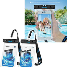 2 Pack Cubrir Impermeable para Telefonos Protector Bolsa De Agua Iphone Android