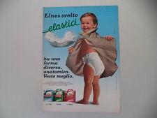 advertising Pubblicità 1984 PANNOLINI LINES SVELTO