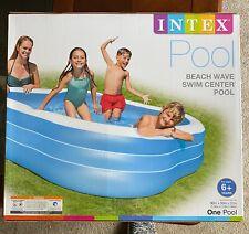 *NEW* INTEX Inflatable Beach Wave Swim Center Pool 90 X 90 X 22 Kids SHIPS ASAP