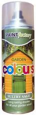 X48 Sultry Vert Sauge jardin Peinture aérosol durée nuances pour bois 400ml