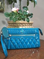 Coach Poppy Zippy Wallet Liquid Gloss Turquoise Patent Leather  48161 W23