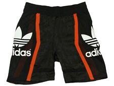 Adidas Originals AJ8872 Black Basketball Workout Baggy Trefoil Shorts 8 10 S 38
