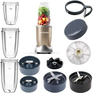for NutriBullet 600W 900W Accessories Parts Cups Jar Lid Handle Blade Gears Set