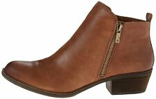 Lucky Brand Womens Basel Leather Closed Toe Ankle Fashion, Toffee, Size 7.0 WbcZ