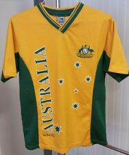 Australia Joey Roo Rugby Soccer Cricket Shirt Jersey Men's Small Yellow Green
