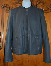 Michalsky Berlin MCM Jacket Gray Charcoal Lamb Leather Sport Cycle Coat $1000+ *