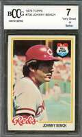 Johnny Bench Card 1978 Topps #700 Cincinnati Reds BGS BCCG 7
