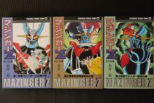 Japan Go Nagai manga: Mazinger Z Original version vol.1~3 Complete Set (Bunko)
