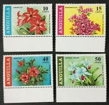ANGUILLA QEII 1969 SG55-SG58, MI70-MI73, set of 4, Flowers of the Caribbean MNH