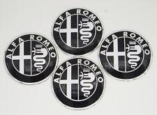 4Pcs 56.5mm Black Car Wheel Center Hub Cap Badge Emblem Sticker for Alfa Romeo