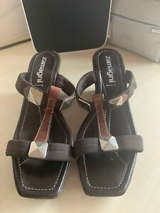 Italian  Sandals Zamagni Size 38 Brown