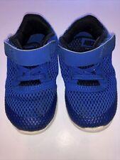 Nike Toddler Boys 7C Blue Black Athletic Tennis Shoes Sneakers