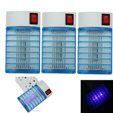 3X Electric LED Mosquito Fly Bug Insect Trap Zapper Killer Night Light Lamp NEW