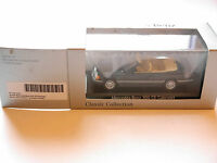Mercedes W 124 300 CE Cabriolet in blue black metallic, Minichamps 1:43 DEALER