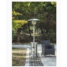 Gas Patio Heater 48000 BTU Stainless Steel Propane Garden Treasure With Wheels!