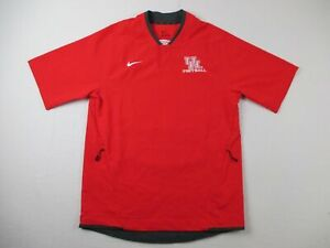 Houston Cougars Nike Pullover Men's Red Poly Short Sleeve NEW Multiple Sizes