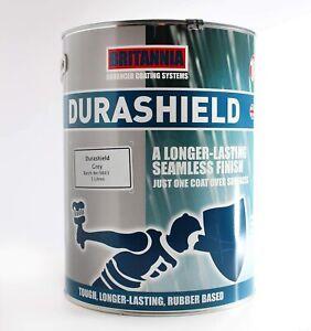 Durashield Grey Waterproof Liquid Rubber Based Roof Paint Sealant 5L, 10L, 20L