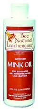 New Bee Natural 8oz Mink Oil Waterproofing For Leather 50183