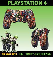 PS4 PlayStation 4 Joystick Tappetino MARVEL DC Azione Grafica ADESIVO SKIN X 2