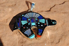 Native American Clayton Tom Sterling Multistone Pendent (KACHINA IN NIGHT SKY)
