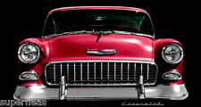 "1955 RED CHEVROLET ~ 48"" ~ Signed Limited Edition Art Print ~ MW James"