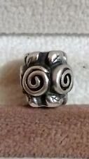 GENUINE PANDORA Sterling Silver 925 Ale Flower Rose Petal Swirls Charm 790136