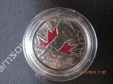 "25 CENT MEN HOCKEY COLOURED RAISED 2 CANADA 2009 COIN BU ""RARE"""